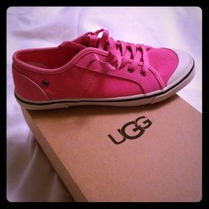 Girl's Pink Canvas Ugg Sneakers